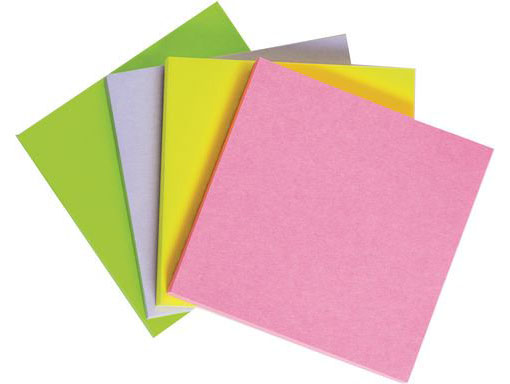Neon Sticky Notes (25 Points)