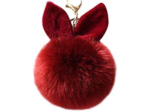 Pom-Pom Bag Charm With Ears (60 Points)