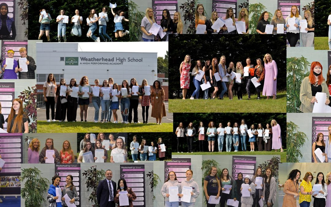 Weatherhead Students Celebrate Exceptional Achievements in their GCSEs and BTECs!